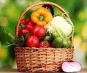 Cesto con hortalizas